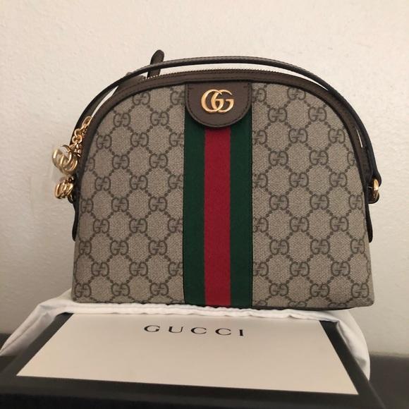 3d2516d22c04 Gucci Bags | Gg Supreme Canvas Small Shoulder Bag | Poshmark